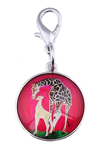 - Giraffe Zipper Pull Charm, Bag Charm (Giraffe - Full Circle)