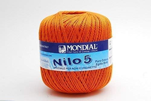 Mondial NILO - Hilo de ganchillo (algodón egipcio, talla 5–122 ...