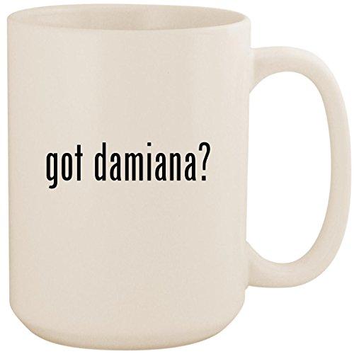 got damiana? - White 15oz Ceramic Coffee Mug Cup
