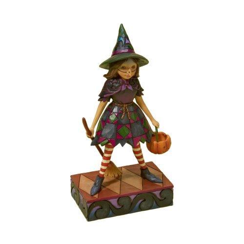 Jim Shore Heartwood Creek from Enesco Little Girl Witch Figurine 6.875 (Little Black Creek Halloween)