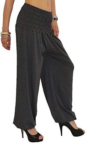 Harem Fonc pour Pantalon Pantalons S01 Femme Yoga Pantalon Pump Dames Sarouel tex pour by Gris de Pantalon Femme qwzATS