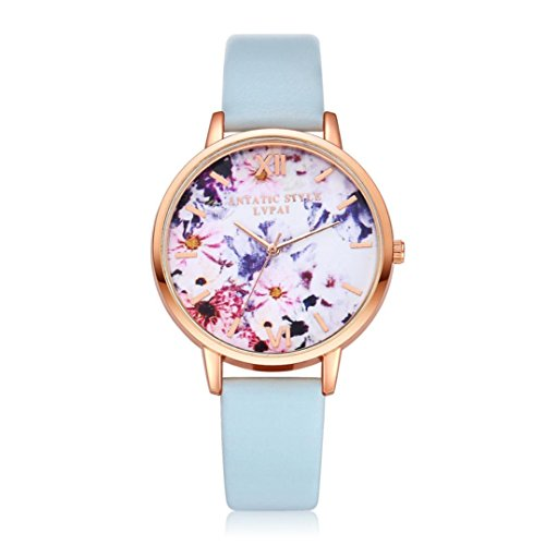 Watches,BCDshop Women Teen Girls New Elegent Quartz Wristwatch Clock Ladies Dress Gift Watches (Sky Blue, alloy)