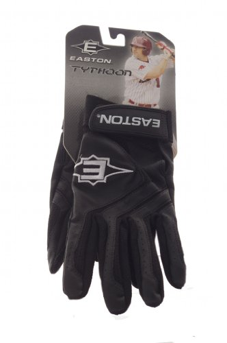(Youth Typhoon Black Baseball Batting Gloves Size Small)