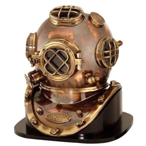 Mariyam Art Handicraft Antique Brass Deep Sea US Navy Mark V Diving Marine Scuba Divers Helmet 18