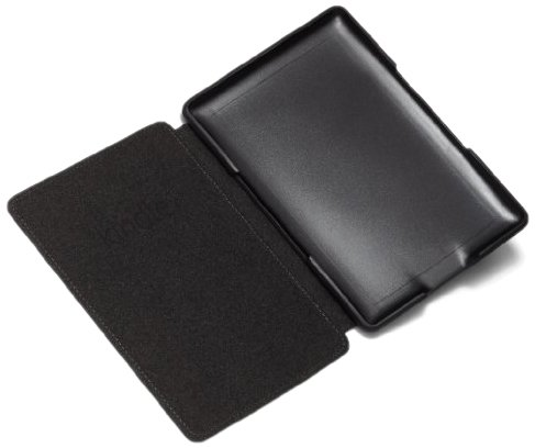 Amazon Kindle Leather Cover, Black (does not fit Kindle Paperwhite, Touch, or Keyboard)