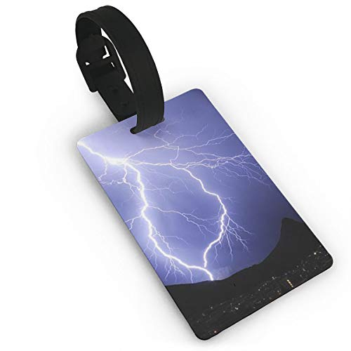 Sheery Lightning Luggage Tags Business Card Holder Travel ID Bag Tag
