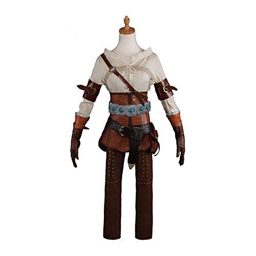 COSJP Wild Hunt Cirilla Fiona Elen Ciri Cosplay Costume Halloween Party Suits (Large)]()