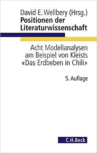 Positionen Der Literaturwissenschaft Acht Modellanalysen Am