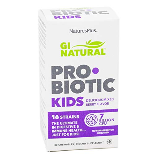 (Nature's Plus Gi Natural Probiotic Kids Mixed Berry Chewables, 0.35 Pound)