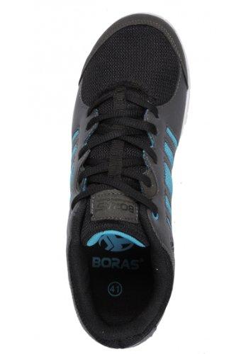 Boras 3045 - Zapatillas de piel sintética para mujer, color, talla 42 - gris grafito