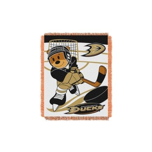 The Northwest Company NHL Anaheim Ducks Score Woven Jacquard Baby Throw, 36
