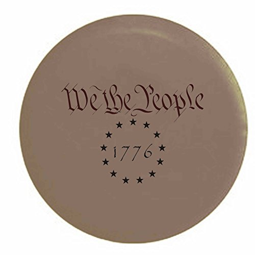 Pike We The People 1776 US Constitution Freedom Rights Trailer RV Spare Tire Cover OEM Vinyl Tan 27.5 in by Pike Outdoors