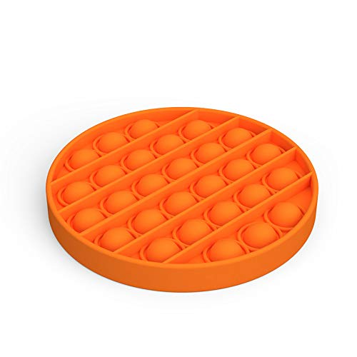 Push Pop Bubble Fidget Sensory Toy, Letdrowy Autism Special Needs Stress Reliever Silicone Squeeze Sensory Toy Help Restore Emotions (Orange)