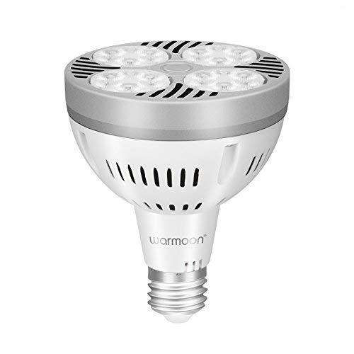 ght Bulbs Long Neck E26 Base 35W Daylight White Flood Light Bulbs 150W Halogen Equivalent for Living Room Shop Supermarket Museum ()