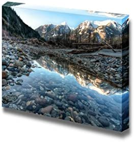 River Side Pool Contains Perfect Mountain Reflect Home Deoration Wall Decor