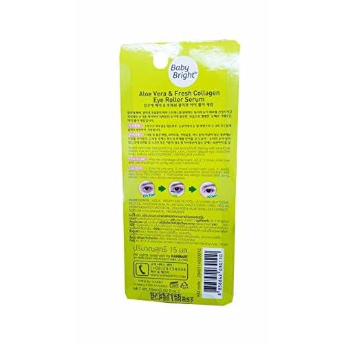 2 Packs of Baby Bright Aloe Vera & Fresh Collagen Eye Roller
