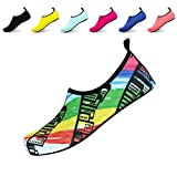 Queyue Women's Men's Outdoor Water Shoes Lightweight Barefoot Quick-Dry Aqua Socks for Swim Beach Surf Yoga Exercise