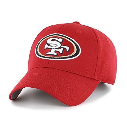 49ers Gear - NFL San Francisco 49ers OTS All-Star MVP Adjustable Hat, Red, One Size