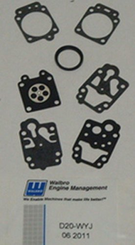 Stens 615-720 OEM Gasket and Diaphragm Kit, Replaces Walbro: D10-WYJ, D20-WYJ, Fits Walbro: WY carburetors, Not compatible with greater than 10% ethanol fuel ()