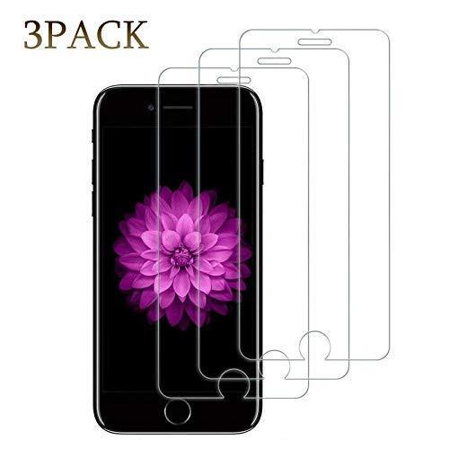 [3Pack] Screen Protector Compatible iPhone 8 Plus/7 Plus/6 Plus,9H Hardness,Premium Anti-Glare,Anti-Fingerprint,3D Touch Compatible 0.3mm Screen Protection (5.5Inch-3Pack)