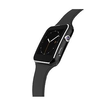 Aubess Bluetooth Reloj Inteligente Tarjeta SIM de Soporte,X6 ...