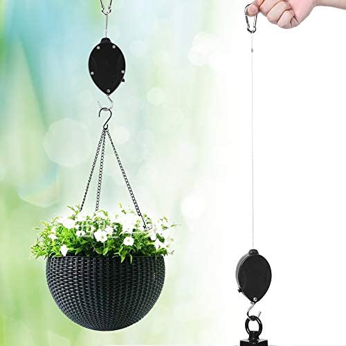 Yunnyp Einziehbarer Hängehaken Innenwandbehangkorb Pull Down Kleiderbügel Gartenpflanze Topfhaken