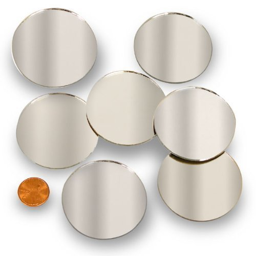 Round 2'' Mini Mirror Can Be Used in Many Craft Projects & Mosaics (60 Pcs) by National Artcraft