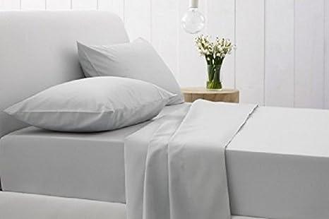 3 pc King bed set Beige w blue 1 Flat sheet 100 w x 100 Long app w 2 King Pillow cases 100/% Cotton NOS