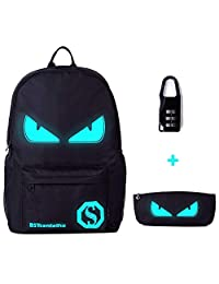 BSTcentelha Anime Luminous Shoulder Bag Lightweight with Laptop Compartments for Students Teens Boy Girl Book Laptop Travel Camping (Medium)