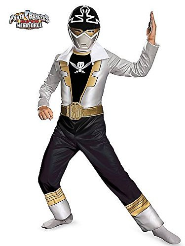 [Disguise Saban Super MegaForce Power Rangers Special Ranger Silver Classic Boys Costume, Medium/7-8] (Power Rangers Megaforce Halloween)