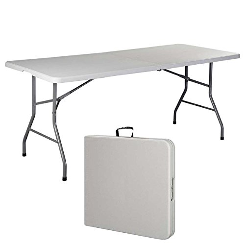 Generic NV_1008000874_YC-US2 ables Po Indoor Outdoor Plast 6' Folding Table door Picnic Party Dining or Pi Portable Plastic Party Camp Tables 6' Fold by Generic