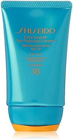 Shiseido Extra Smooth Sun Protection Cream N' Broad Spectrum SPF 38 for Face for Unisex, 2 Ounce