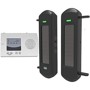Amazon Com Htzsafe Solar Wireless Driveway Alarm System