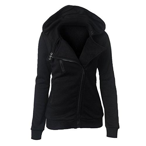 Qingxian - Sudadera con capucha - para mujer negro
