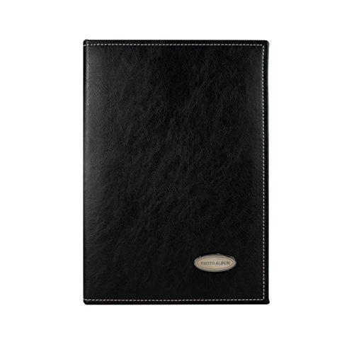 Zoview Sewn Bonded Photo Album Book, Family album, Leather Cover, pocket photo album 240 photos hold 4X6 photos, 3 photos per page (M-black)
