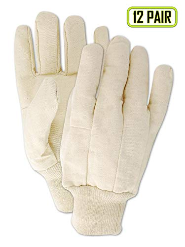 Magid Glove & Safety T83C Magid MultiMaster T83 8 oz. Clute Pattern Cotton Canvas Gloves, Natural, Ladies (Fits Medium) (12 Pairs) ()