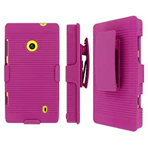 Pink Hard Stand Cover Case for Nokia Lumia 521 I178T