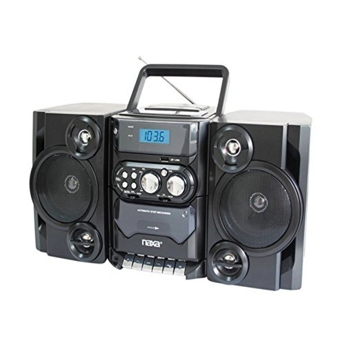 Naxa NPB-428 Portable Boombox AM/FM Radio MP3/CD Player & Cassette Recorder Consumer Electronics (Old Model) by Naxa Electronics