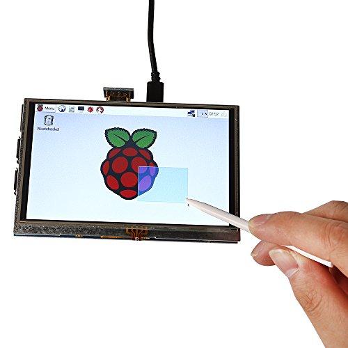 SainSmart 5 inch LCD for Raspberry Pi 3 2 1 Model B+ A+ B 800x480 Touch LCD Screen HDMI Display Module Mini PC by SainSmart (Image #5)