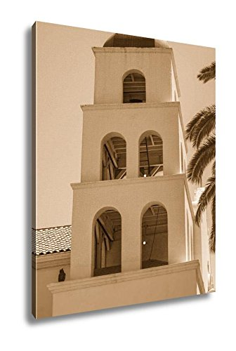 Ashley Canvas Catholic Church Of The Immaculate Conception In San Diego San Diego California, Home Office, Ready to Hang, Sepia 25x20, AG6522958 by Ashley Canvas