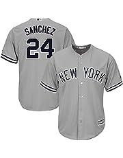 Personalizada Camiseta Deportiva Baseball Jersey Yankees de la Liga Mayor de béisbol # 24 Sanchez New York Yankees