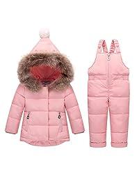 2018 Baby Boys' Girls' Ultralight Snowsuit Winter Puffer Jacket Two-piece Set