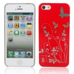 Decorative Pattern Protective Case for iPhone 5/5S Red