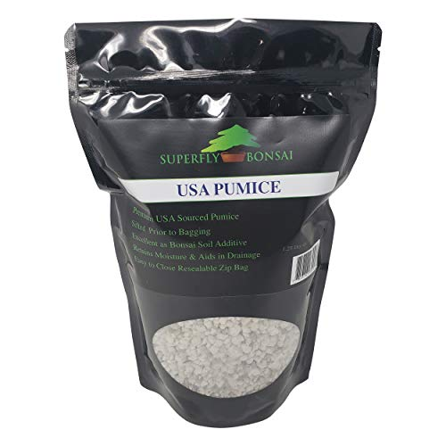 Bonsai Pumice - Professional Sifted and Ready to Use American Bonsai Pumice - Can Also Be Used As an Additive for Bonsai Soil in Easy Zip Bag ... (1.25 Dry Quart)