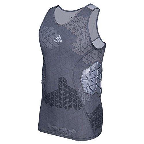 Adidas Techfit Ironskin Mens 3 Pad Football Tank M Onix-Light Onix (Adidas Football Shirt)