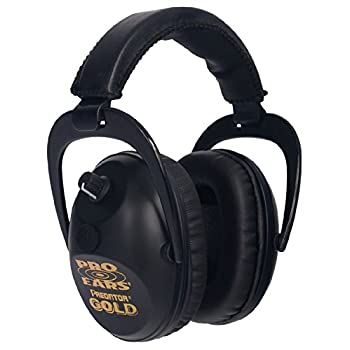 Image of Earmuffs Pro Ears - Predator Gold - Hearing Protection and Amplfication - NRR 26 - Contoured Ear Muffs