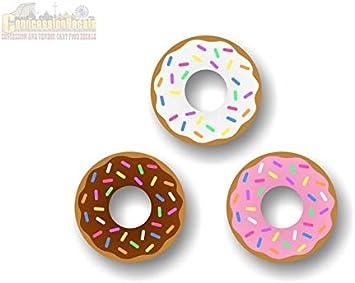 Amazon.com: Pegatinas de vinilo con diseño de donuts de 3 ...