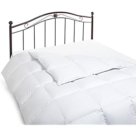 Northwood Down 600 Fill Power European Goose Down 366 Thread Counts Comforter Twin White