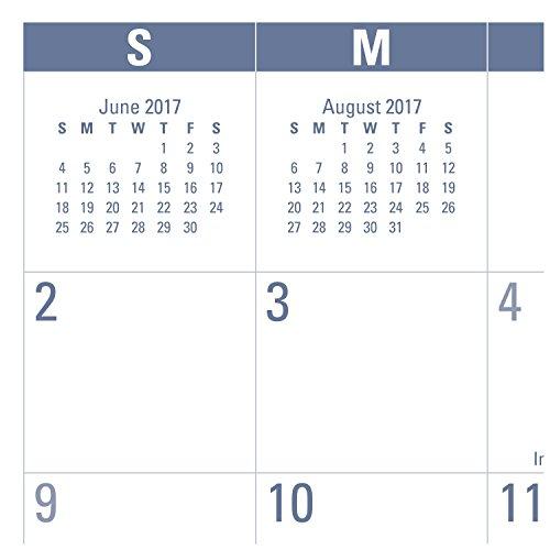AT-A-GLANCE Academic Desk Pad Calendar, July 2017 - June 2018, 21-3/4