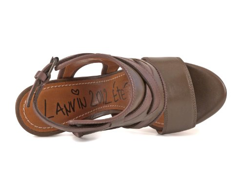 Lanvin Mujer AW5C3CDORC6A Marrón Cuero Sandalias